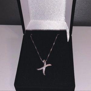 Jewelry - NWOT .10ctw Genuine 925 Diamond Necklace